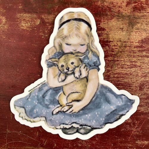 Puppy love sticker