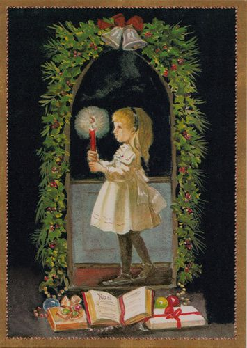 caspari_single_rare_card_girl_with_candle