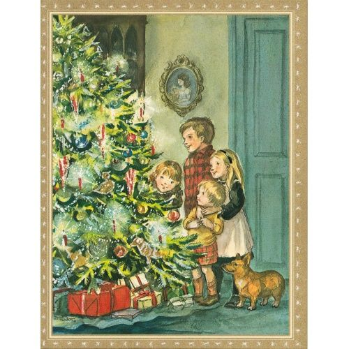caspari_rare_single_card_christmas_eve_447374375